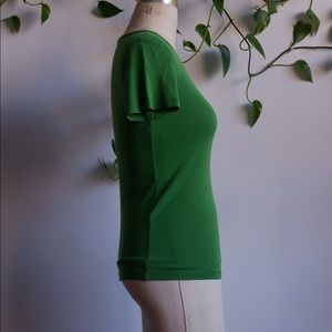 J CREW Kelly Green Fitted Tee
